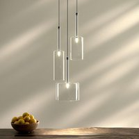 Suspension en verre à 3 lampes Spillray