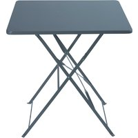 '2-seater Grey Epoxy-treated Metal Folding Garden Table W70 Guinguette