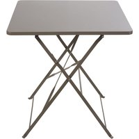 '2-seater Taupe Metal Folding Garden Table L70 Guinguette
