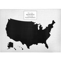 'Black And White United States Wall Sticker