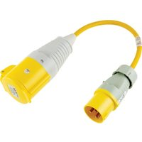 Zoro Select - 0.5M 16A Plug to 32A Socket 110V Fly Lead