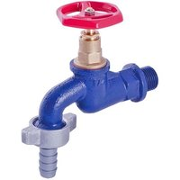 1/2 Inch BSP Resistant Cast Iron Garden Outdoor Tap Valve With Hose Adapter