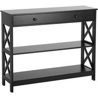 Beliani - Modern 1 Drawer Sideboard Black with Shelves Storage Living Room Montgomery