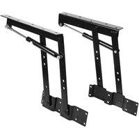1 pair Folding Elevator Lift Platform Mechanism Lift Up Spring Hinge for Coffee Table