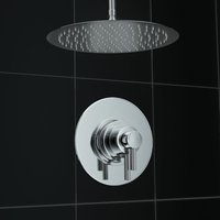 1 Way Thermostatic Mirror Shower Valve Mixer Ceiling Set 300mm - ERGONOMIC DESIGNS