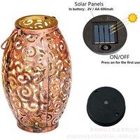 Thsinde - 10 Ones Design Solar Light Outdoor Hanging Solar Lantern Garden Outdoor Solar Light with Handle Retro Metal Waterproof Patio Yard Pathway