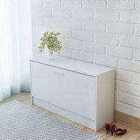 10 Pair Shoe Storage Bench by Ebern Designs - White