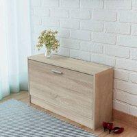 10 Pair Shoe Storage Bench by Ebern Designs - Brown
