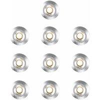MiniSun - 10 x 15mm LED Round Garden Decking Lights Kit - IP67 - Warm White