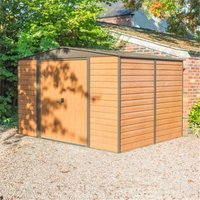 Cheshire Metal Sheds(r) - 10 x 6 Deluxe Woodvale Metal Shed (3.13m x 1.81m) - Including Floor