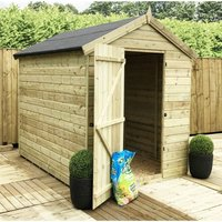 Marlborough(bs) - 10 x 6 Premier Windowless Pressure Treated Tongue And Groove Single Door Apex Shed With Higher Eaves And Ridge Height