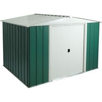 Cheshire Metal Sheds(r) - 10 x 8 Deluxe Green Metal Apex Shed (3.13m x 2.42m)