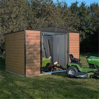 Cheshire Metal Sheds(r) - 10 x 8 Deluxe Woodvale Metal Shed (3.13m x 2.42m) - Including Floor