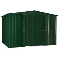 10 x 8 Premier EasyFix – Apex – Metal Shed - Heritage Green (3.07m x 2.47m)