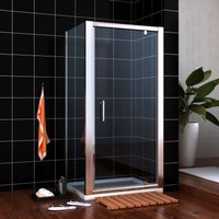 1000 x 800 mm Pivot Shower Enclosure Glass Screen Door Cubicle Panel 1000x800mm Stone tray