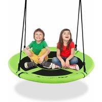 Costway - 100cm Flying Saucer Tree Swing Indoor Outdoor Children Play Set Adjustable Rope