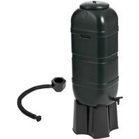 100L Slimline Garden Water Butt Set Including Tap With Stand and Filler Kit - Green