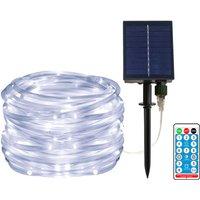 100LED solar tube light, remote control lithium battery 12 meters, white light