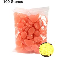 Asupermall - 100pcs/Bag Luminous Pebbles Glow in the Dark Stones Home Fish Tank Outdoor Decor Garden Walkway