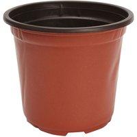 Maerex - 100Pcs Round Plastic Flower Pot Garden Plants Planter Balcony Home 17 * 12.3 * 15Cm