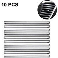 10pc Chrome PVC Car Air Conditioner Vent Outlet Trim Decoration Strip for
