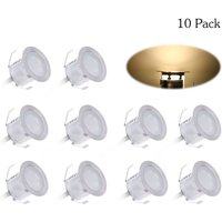 10PCS 32mm LED Deck Lights 0.6W 500LM SMD2835 Small Recessed In-ground Underground IP67 Warm white