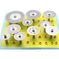 10Pcs Diamond Cutter Set Wheel For Dremel Rotary Tool