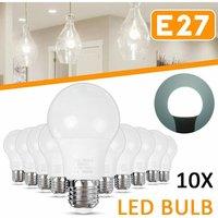 Drillpro - 10pcs E27 LED Bulb Projector Home Lighting Decoration Cold White AC85-265V Bombillas Bulbs Lampada Bulb Lighting