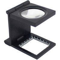 Bearsu - 10X 28mm Zinc Alloy Foldable Mini Magnifier with Scale for Textile, Optical Glass, Magnifying Tool