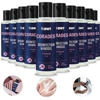 10x CORADES Hand Sanitizer Gel 70% Sanitizer Fragrance Disinfectant 50ml - BWT