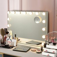 Costway - 10X LED Vanity Mirror Light Kit 15 Dimmable Bulbs Dressing Table Light Bluetooth