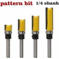 "SOEKAVIA 1/2 ""Diameter Flush Trim Pattern Router Bit Set Wood Bearing Milling Cutter Set with 1/4 Inch Shank Flush Trim Bit"
