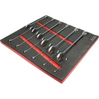 12 Piece 1/4-1IN A/F Industrial Combination Spanner Set in Tool Control - Kennedy