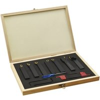 12 Pieces Indexable Turning Tool Set 16x16 mm 115 mm