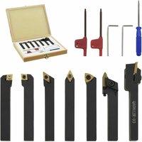 12 Pieces Indexable Turning Tool Set 8x8 mm 60 mm - Vidaxl