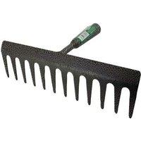 12 Tooth Teeth Replacement Rake Head Garden Lawn Leaf Leaves Metal Carbon Steel