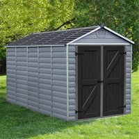 12 x 6 (3.78m x 1.85m) Double Door Apex Plastic Shed with Skylight Roofing