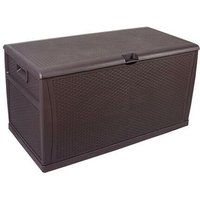 120gal 460L Outdoor Garden Plastic Storage Deck Box Chest Tools Cushions Toys Lockable Seat Waterproof - Brown - Brown