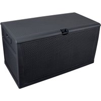 120gal 460L Outdoor Garden Plastic Storage Deck Box Chest Tools Cushions Toys Lockable Seat Waterproof - Black