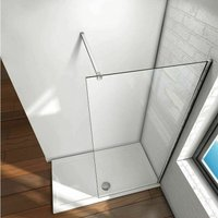 1225 mm Straight Square Shower Wall to Glass Support Bar - NESHOME