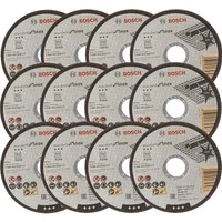 12x Bosch 115mm 1mm Thin Slit Cutting Discs Blades Inox Rapido 4.5' 2608603169