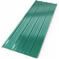 12x Deuba Corrugated Roof Sheets 1290 x 450 mm / 7 m² Roofing Wall Cladding Green