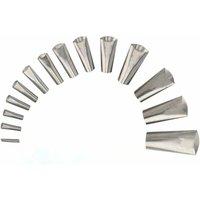 Zqyrlar - 14 PCS Stainless Steel Sealing Nozzle, Sealing Nozzles, Sealing Tools, Finishing Tool Kit, Sealing Tool Reusable, Sealing Nozzle Set for