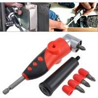 Bearsu - 1/4  Right Angle Driver Screwdriver Drill Repair Tool, 105 Degree Angle Extension Socket with 4 x Phillips Screwdriver