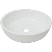Basin Round Ceramic White 42x12 cm - VIDAXL