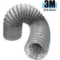 15 × 300cm Flexible Exhaust Pipe air conditioning air conditioner smoke Duct Chimney Vent Stove Mohoo