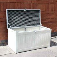 150 Litre Medium Size Plastic Indoor / Outdoor Garden Storage Chest / Shed