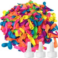 1500 Pack Water Balloons, Water Balloons for Kids and Adults with 3 Hose Nozzles Refill Kits - for Summer Splash Fun Fight Games
