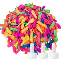 1500 Pack Water Balloons with Refill Kits, Large-Capacity Latex Balloons Set, Fun Party with Water Bomb Games, Summer Happiness for Kids and Adults