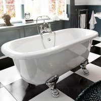 1500 X 745 Traditional Freestanding Roll Top Double Ended Bath
